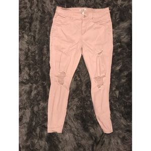 Refuge Pink ripped jeans